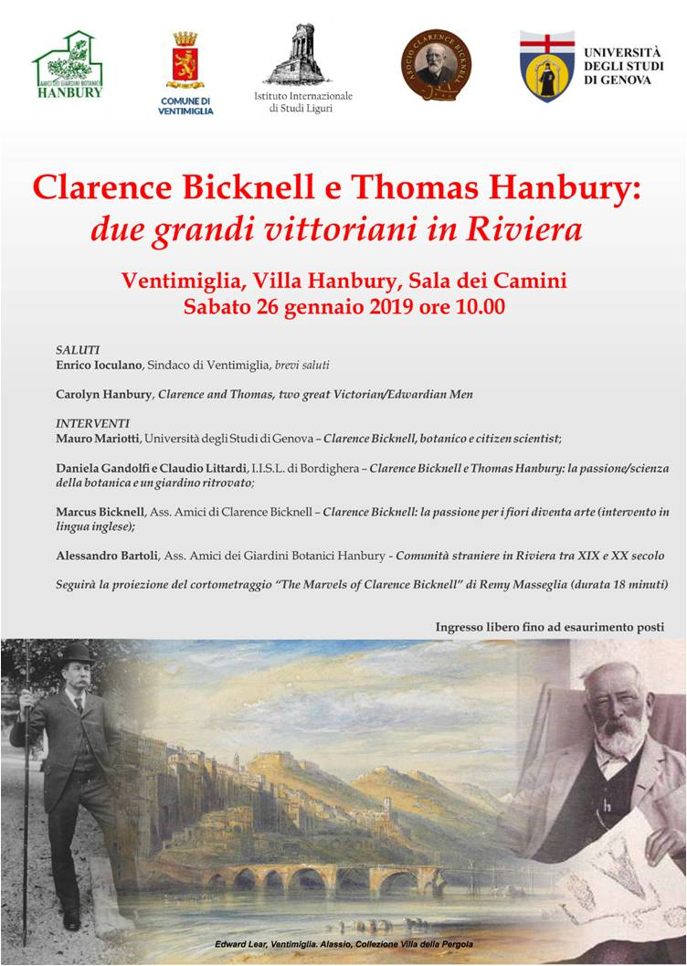 Clarence Bicknell e Hanbury