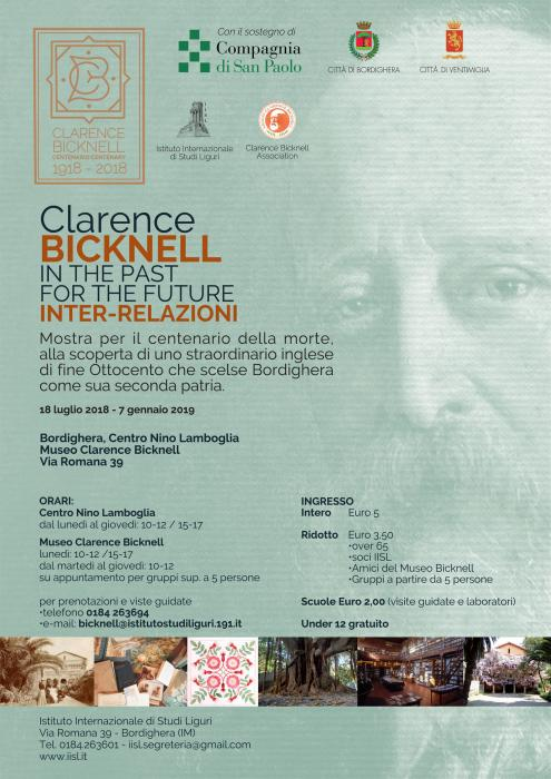 Mostra centenario morte di Clarence Bicknell In the past for the future